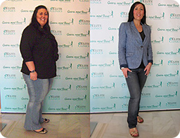 Sarah Hart lost half her body weight with Gastric Mind Band